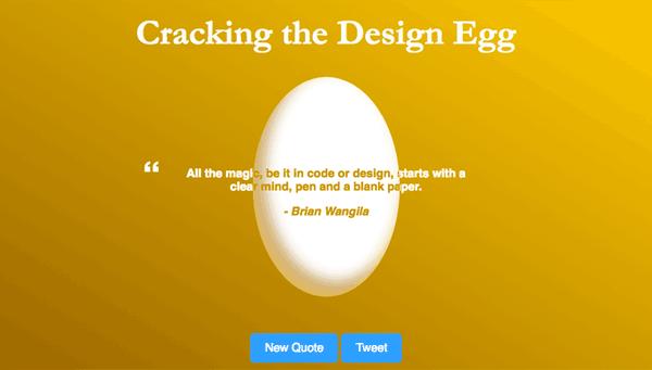 Screenshot of the 'Cracking the Design Egg' app.