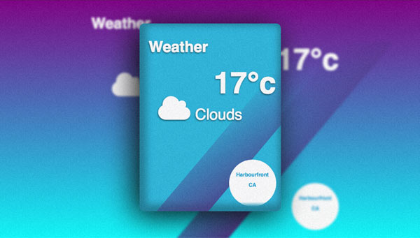 Screenshot of the Local Weather app.